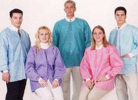 Lab Jacket Extra-Safe Sky Blue Medium Long Sleeve Hip Length 3630SBM Pack/10