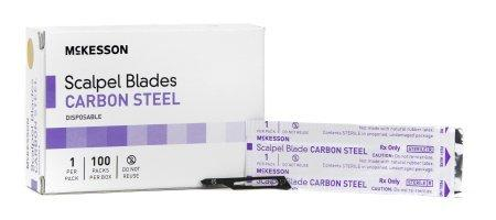 McKesson Brand Surgical Blade Carbon Steel Size 15 Sterile Disposable 16-63715 Box/100