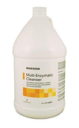 McKesson Multi-Enzymatic Instrument Detergent Liquid 1 Gallon Jug Eucalyptus Spearmint Scent 53-28501 Case/4