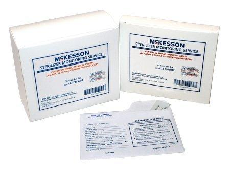 McKesson Sterilizer Monitoring Mail-In Service Steam / EO Gas / Dry Heat / Chemical Vapor 73-EMS052 Box/52