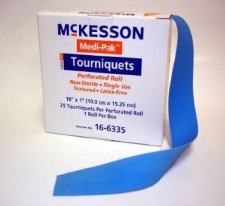 McKesson Tourniquet Band on Roll 18 Inch 16-6335 Box/25