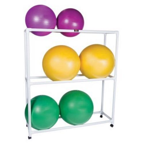 Mobile Floor Rack 20 X 62 X 72 Inch, PVC, 3 Shelves 30-1832 Each/1