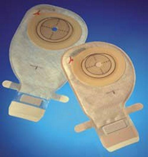 Ostomy Pouch Assura¨ EasiCloseª One-Piece System 11 Inch Length 25 mm Stoma Drainable Convex, Pre-Cut 14174 Box/10