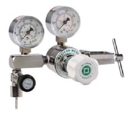 Oxygen Pressure Regulator Adjustable Single Stage 0 - 100 PSI M1-870-PG Each/1