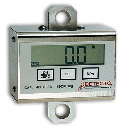 Patient Lift Scale Detecto Digital, LCD 600 X 0.2 lbs. 9 V Alkaline Battery PL600 Each/1