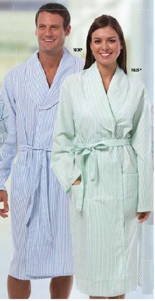 Patient Robe Unisex X-Large Blue Stripe Reusable 1830-XL Each/1