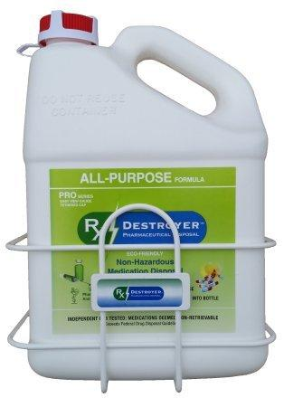 Pharmaceutical Disposal System Rx Destroyer PRO Series All-Purpose 1 Gallon Bottle 3000 Pill Capacity RX1.0PRO Case/4