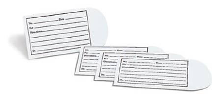 Pill Envelope White 2-1/2 X 3-1/2 Inch 9600 Box/1000