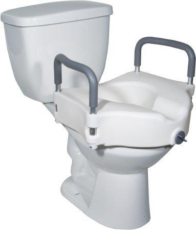 Raised Toilet Seat With Arms 5 Inch White 300 lbs. 12027RA-4BULK Each/1