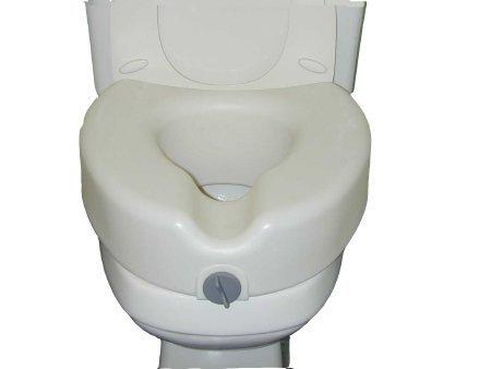 Raised Toilet Seat sunmark 5 Inch White 250 lbs. 132-8764 Box/1