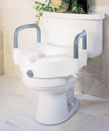 Raised Toilet Seat with Arms 5 Inch White 250 lbs G30270A Case/3