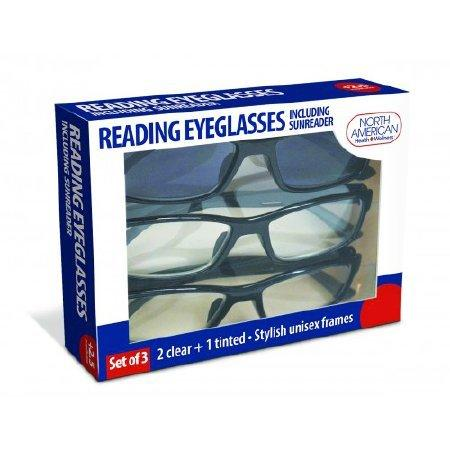 Reading Eyeglasses North American Health & Wellness Reading and Sunreader JB7366 -6.0 Each/1