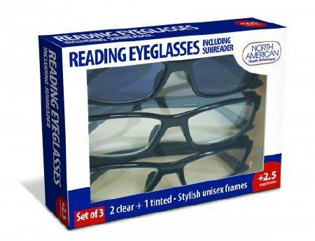 Reading Eyeglasses North American Health & Wellness Reading and Sunreaders JB7366-2.5 Each/1