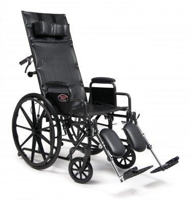 Reclining Wheelchair Advantage Recliner Removable Desk Arm Mag Black 18 Inch 300 lbs. 3K010130 Each/1 - 64904200