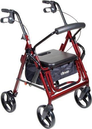 Rollator / Transport Chair Duet Black Folding Aluminum 37 Inch 795BK Each/1 - 75993809