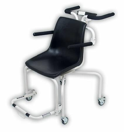 Rolling Chair Scale Detecto Digital 440 X 0.2 lbs. White with Black Chair Batteries 6880 Each/1