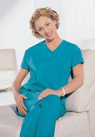 Scrub Shirt Synergy Medium Imperial Purple 2 Pockets Cap Sleeves Female 46851-IP5 Each/1