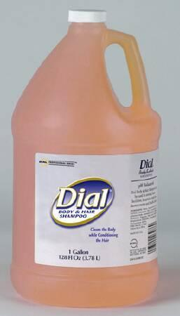 Shampoo and Body Wash Dial 1 gal. Jug Peach Scent DIA 03986 Case/4