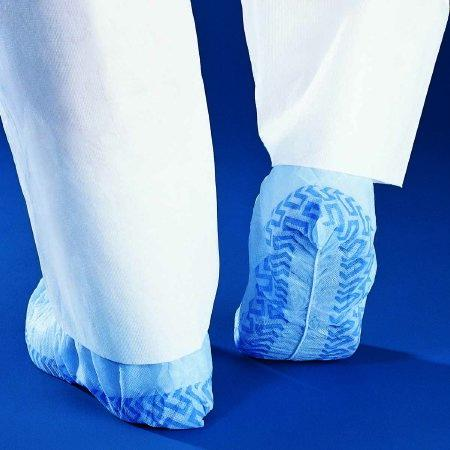 Shoe Cover Basics Regular Shoe-High Traction Strips Blue NonSterile 69114 Pack/100