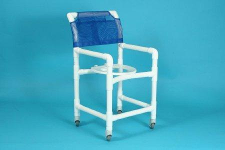 Shower Chair 500 Series Deluxe Fixed Arm PVC Frame Curved Back 20 Inch 520SX Each/1 - 52043309