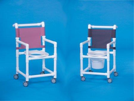 Shower Chair Select Fixed Arm PVC Frame Mesh Back 17 Inch Clearance ESC-17 Each/1 - 37053309