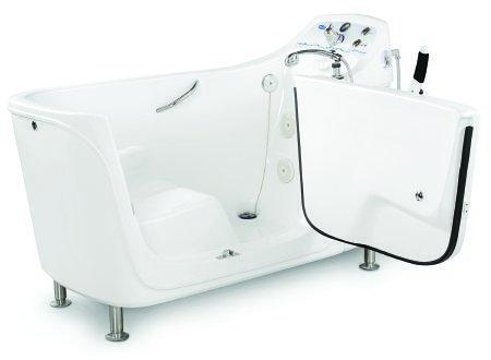 Side Entry Whirlpool Tub TheraPure White Fiberglass IH3652G Each/1
