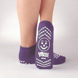 Slipper Socks Pillow Paws Risk Alert X-Large / Size 7-1/2 to 10 Purple 3911-001 Pair/2