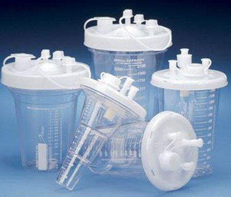 Suction Canister Kit Crystaline 1200 mL Press-On Lid 71-3009 Case/30