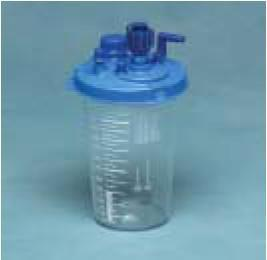 Suction Canister Medi-Vac Guardian 1200 mL Shut-Off Valve / Locking Lid 65651-100 Case/36