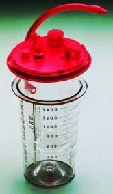 Suction Liner Medi-Vac CRD 1000 mL Shut-Off Valve / Locking Lid 65651-510 Case/100