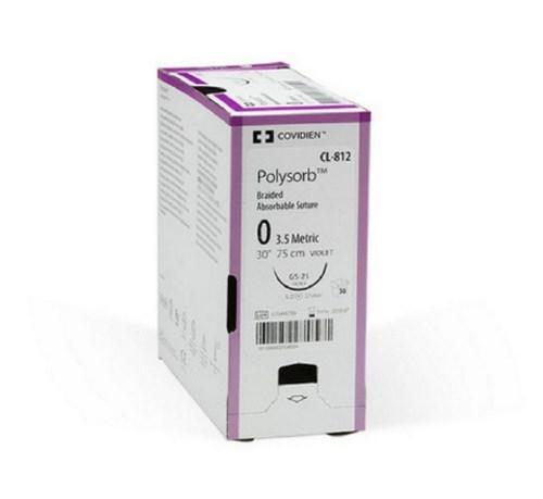 Suture Polysorbª Braided Polyester Absorbable Size 1 18 Inch L35 Box/24
