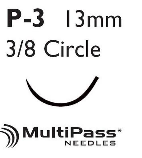 Suture with Needle Coated Vicrylª Absorbable Undyed Braided Polyglactin 910 Size 4-0 18 Inch Suture 1-Needle 13 mm 3/8 Circle Precision Point - Reverse Cutting Needle J494G Box/12