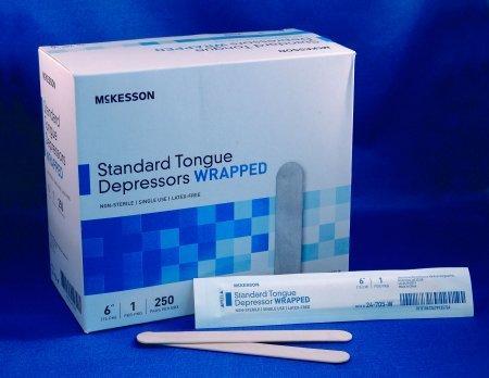 Tongue Depressor McKesson 6 L Inch 24-705-W Box/250