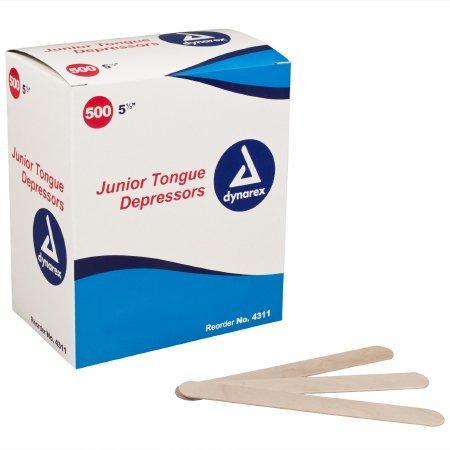 Tongue Depressors Junior 5 1/2 L Length 4311 Case/5000