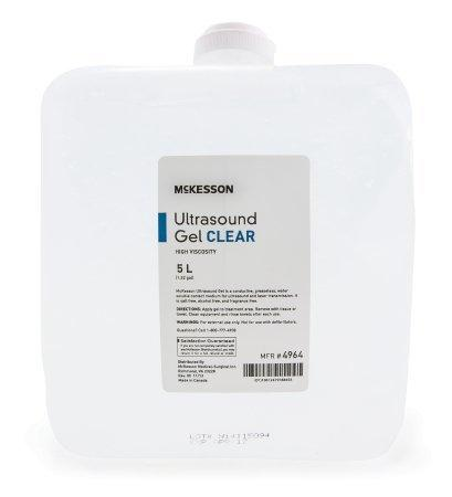 Ultrasound Gel McKesson Ultrasound and Laser Transmission 5 Liter Cubitainer 4964 Each/1