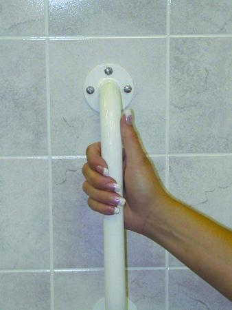 Wall Grab Bar sunmark 24 Inch White Steel 130-6182 Box/1