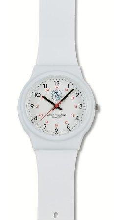 Watch 24 Hours Analog 1770-WHT Each/1