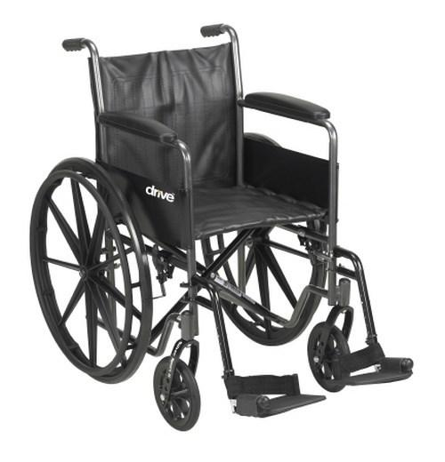 Wheelchair McKesson Padded Composite Black 18 Inch 300 lbs. 146-SSP218FA-SF Each/1