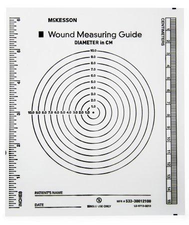 Wound Measuring Guide McKesson 5 X 7 Inch Clear Plastic NonSterile 533-30012100 Case/6000