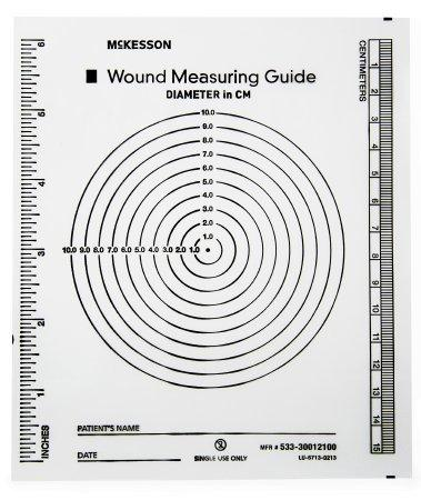 Wound Measuring Guide McKesson 5 X 7 Inch Clear Plastic NonSterile 533-30012100 Pack/100