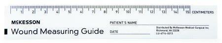 Wound Measuring Guide McKesson 6 Inch Paper NonSterile 533-LR/50 PD/50
